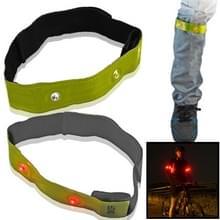 4 LED Lights veiligheid uitvoeren reflecterende Arm /Leg Bands (set 2st.)