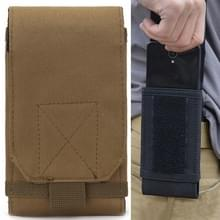 Stylish Outdoor Water Resistant Fabric Cell Phone hoesje, Size: approx. 17cm x 8.3cm x 3.5cm (Coyote Tan)