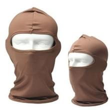 Buiten een gat gezicht Mask(Brown)