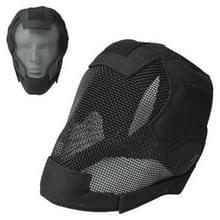 Draad Guard tactische helm/schermen masker (zwart)