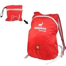 Waterdicht Folding Backpack met Adjustable Band, Folding Size: 11x4x10cm (rood)