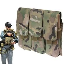 Triple Canvas Cartridge Clips Pouch met Velcro & Quick Release Buckles (Camouflage)