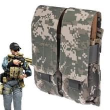 Duplex Canvas Cartridge Clips Pouch met Velcro & Quick Release Buckles (Camouflage)