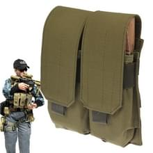 Duplex Canvas Cartridge Clips Pouch met Velcro & Quick Release Buckles(Army Green)