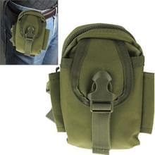 Multifunctionele hoge dichtheid sterk weefsel taille nylontas / Camera Bag / gsm zak, grootte: 9 x 14,5 x 6 cm (leger-groen)