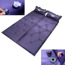 Automatisch opblaasbare slapen Pad  vocht bewijs Pad met Pillow(Purple)