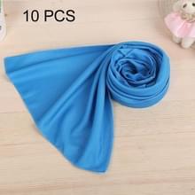 10 stuks Outdoor sporten Protable koud gevoel voorkomen zonnesteek ijs handdoek  grootte: 30*80cm(Blue)
