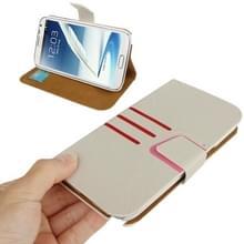 Denim textuur horizontale Flip lederen draagtas met Credit Card-sleuf & houder voor Galaxy Note II / N7100(White)