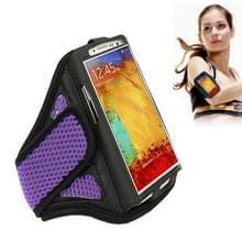 Sports Armband hoesje voor Samsung Galaxy Note 4 / N910  Note 3 / N900(paars)