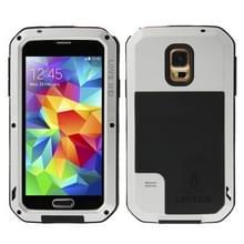 Samsung Galaxy S5 / G900 compleet omhullend ultrarobuust regendicht metalen LOVE MEI Hoesje (grijs)