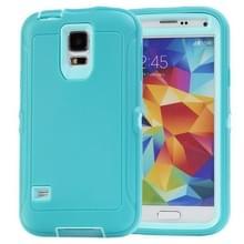 Shockproof TPU + Plastic combinatie hoesje voor Samsung Galaxy S5 / G900 (Turquoise)