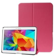 Frosted Texture Flip Leather Case with Holder for Samsung Galaxy Tab 4 10.1 / SM-T530(Magenta)