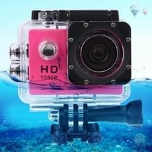 SJ4000 Full HD 1080P 1.5 inch LCD Sports Camcorder met Waterdicht hoesje, 12.0 Mega CMOS Sensor, 30m Waterdicht(hard roze)