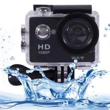 Sports Cam Full HD 1080P H.264 1.5 inch LCD WiFi Editie Sports Camera met 170 graden groothoek lens, tot 30m waterdicht(zwart)