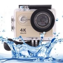H9 4K Ultra HD1080P 12MP 2 inch LCD scherm WiFi Sports Camera, 170 graden groothoeklens, 30m waterdicht(Goud)