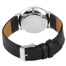 Dial mannen Quartz lederen horloge wit / paar van horloge (8062A)