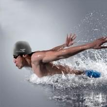 Zuivere kleur stijl elastische siliconen zwemmen Pet / hoed  SC208(Black) zwemmen