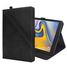 Horizontale Flip dubbele houder lederen Case voor Galaxy Tab een 8.0 (2018) T387  met kaartsleuven & fotolijstjes & stylushouder (zwart)