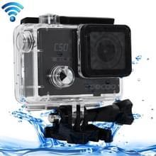 SOOCOO C50 4K HD 2 inch LCD scherm 12MP WiFi Sport Actie Camera Camcorder met waterdichte behuizing, 170 graden groothoek lens, ondersteunt 64GB Micro SD kaart, HDMI Output(zwart)