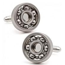 1 paar kogellager Manchetknopen functionele draaibare diversiteit van mechanische Vintage metalen kleur Bearing ontwerp manchet links