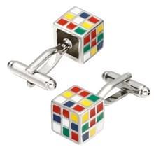 1 paar kleurrijke kubus Manchetknopen voor mannen