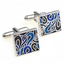 1 paar Trendy geëmailleerde Cufflink voor mannen / Women(Blue)