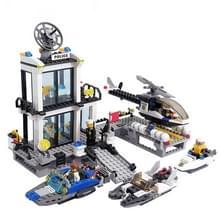 6726 536 PC's Brick blokken politie serie Building Blocks Water politiebureau helikopters boten Model zelf vergrendeling bakstenen speelgoed educatieve Gift  leeftijd: 6 jaar oude boven