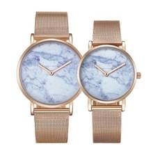 CAGARNY 6812 ronde wijzerplaat Alloy goud Case mode paar Watch mannen & vrouwen minnaar Quartz horloges met Stainless Steel Band