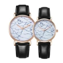 CAGARNY 6812 ronde wijzerplaat Alloy goud Case mode paar Watch mannen & vrouwen minnaar Quartz horloges met PU lederen Band