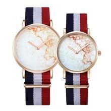 CAGARNY 6812 ronde wijzerplaat Alloy goud Case mode paar Watch mannen & vrouwen minnaar Quartz horloges met Nylon Band