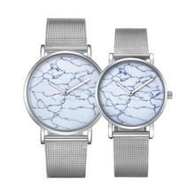 CAGARNY 6812 ronde wijzerplaat Alloy Silver Case mode paar Watch mannen & vrouwen minnaar Quartz horloges met Stainless Steel Band