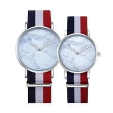 CAGARNY 6812 ronde wijzerplaat Alloy Silver Case mode paar Watch mannen & vrouwen minnaar Quartz horloges met Nylon Band