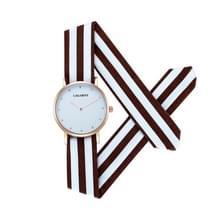 CAGARNY 6813 eenvoudig Type ronde Dial legering Gold Case mode vrouwen Watch Quartz horloges met doek Band