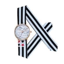 CAGARNY 6813 Marble Pattern ronde Dial legering Gold Case mode vrouwen Watch Quartz horloges met doek Band