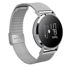 CV08 0.95 inch OLED scherm Display Steel Band Bluetooth Smart armband  waterdicht IP67  steun stappenteller / bloeddruk Monitor / Heart Rate Monitor / sedentaire herinnering  compatibel met Android en iOS Phones(Silver)