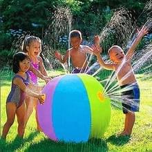 Buiten zomer kinderen gazon opblaasbare Water fontein PVC strandbal  opgeblazen grootte: 60 x 60 x 60 cm