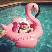 Inflatable Flamingo Shaped Baby Swimming Ring  Inflated Size: 100 x 105 x 60cm