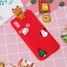 3D Paster Kerstmis Elk patroon TPU beschermhoes voor Xiaomi Mi 6 X / A2(Red)