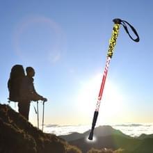 135cm draagbare hoogte verstelbaar buiten aluminium Trekking Poles(Red)