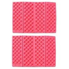 2 PC's Portable Folding cellulaire mobiele telefoons Massage kussen Outdoors vochtige bewijs picknick zetel matten EVA Pad(Red)