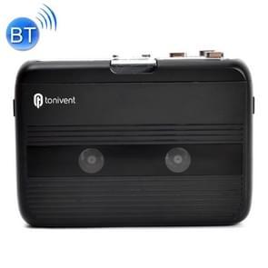 Tonivent TON007B draagbare Bluetooth tape cassettespeler  ondersteuning FM / Bluetooth input en output (zwart)