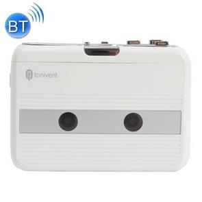 Tonivent TON007B draagbare Bluetooth tape cassettespeler  ondersteuning FM / Bluetooth input en output (wit)