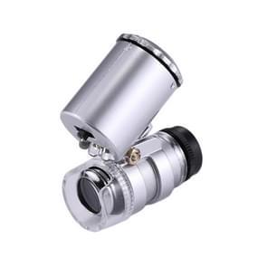 Mini draagbare 60 X sieraden beoordeling Microscoop met LED licht & valuta detectie functie