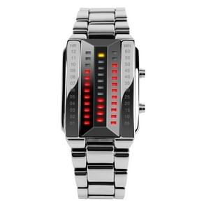SKMEI 1035 multifunctionele mannen buiten mode Noctilucent waterdichte LED Digital Watch(Silver)