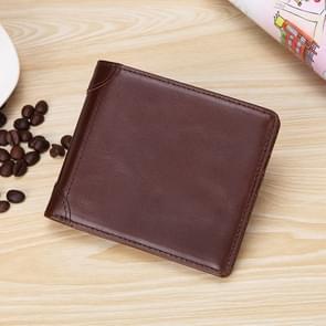 TP-173 Ultra-Thin Multi-functionele Retro Cowhide Lederen Multiple Card Slots Wallet (Koffie)