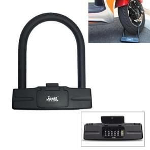 U-Shaped Motorcycle Bicycle Safety 5-Digital Code Combination Lock (Black)