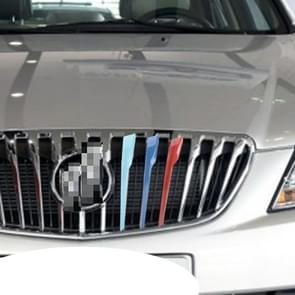 3 PC's auto voorgrille kunststof decoratie Strip Front Grill rooster Inserts Cover Strip auto Styling accessoires nieuwe Excelle 2013-2015