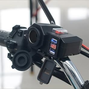 Multi-function WUPP 4 motorfiets USB lader sigarettenaansteker  met blauw licht