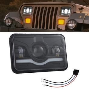5 inch 35W 4000LM 6000K + Amber auto vrachtwagen vierkante LED koplampen werk lichten Spotlight
