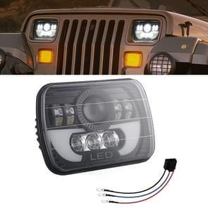 7 inch 35W 4000LM 6000K + Amber auto vrachtwagen vierkante LED koplampen werk lichten Spotlight